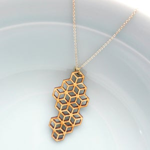 Image of Medium Honeycomb Pendant with Chain
