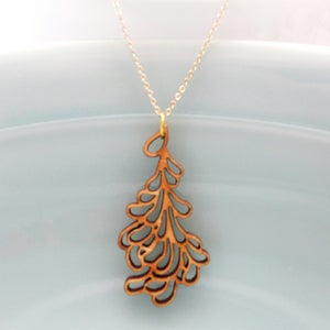 Image of Small Petal Pendant with Chain