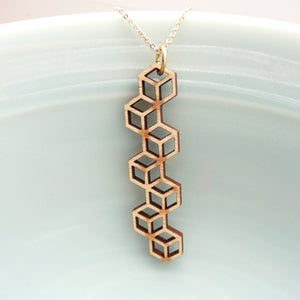 Image of Cubic Stringbean Pendant with Chain