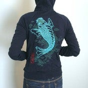 Image of SALE Koi womens hoodie  only S and XL