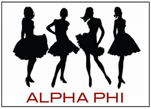 Image of  Alpha Phi Dresses Note Cards or Invites