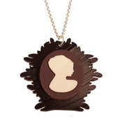 Image of Ltd. Edition Cameo Necklaces made from layered COLOUR vinyl records.