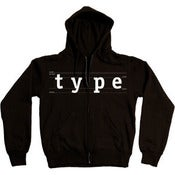Image of Type Zip Up Hoodie