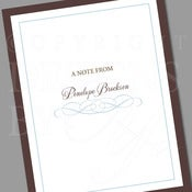 Image of Personalized Stationery Set :: Flourish