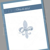 Image of Personalized Stationery Set :: Fleur De Lis