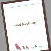 Image of Personalized Stationery Set :: Little Birdie