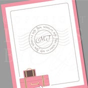 Image of Personalized Stationery Set :: Traveler