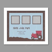 Image of Keepsake Frame :: Tractor
