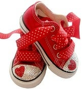 Image of SWAROVSKI BABY BLING HEART LOVE CONVERSE SNEAKERS