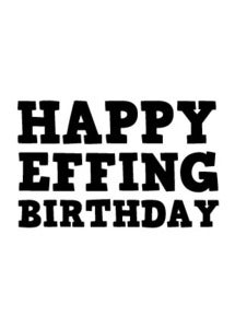 Image of Happy Effing Birthday