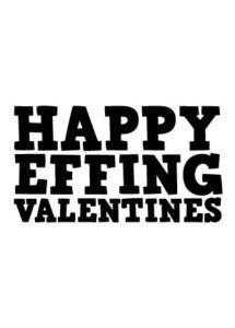 Image of Happy Effing Valentines