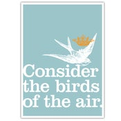 "Image of POSTER: Consider the birds of the air - 19.75"" x 27.5"""