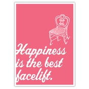 "Image of POSTER: Happiness is the Best Facelift - 19.75"" x 27.5"""