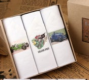 Image of Box of III Men's Handkerchiefs: Sport Cars