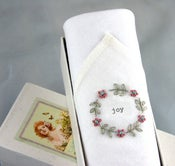 Image of Woman's Handkerchief in a Gift Box:Joy