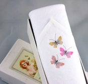 Image of Woman's Handkerchief in a Gift Box:Butterflies