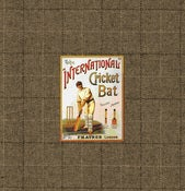 Image of Greeting Card:Vintage Cricket Bat