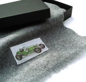 Image of Men's Wool Scarf: Green Car