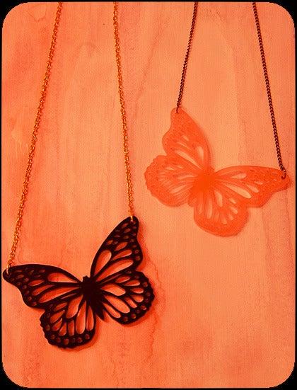 pretty please dear — monarch glass necklace