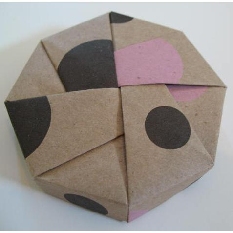 tree hugger box � origami octagon boxes kraft patterned