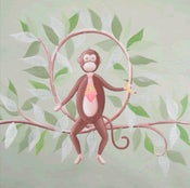 "Image of Monkey On A Vine 18"" x 18"""