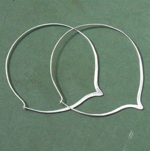 Image of One Of a Kind Sterling Silver Hoop Earrings