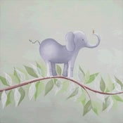 "Image of Elephant on Vine 12"" x 12"""