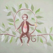 "Image of Monkey on a Vine 12"" x 12"""