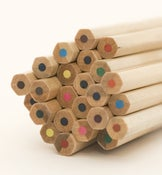 Image of 2 Sets of 12 color Wooden Pencil