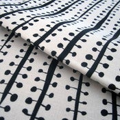 Image of Buds hemp/organic cotton fabric - black