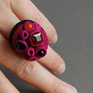 Image of Custom-made coral cluster ring