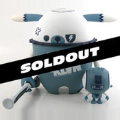 "Image of 7.5""Nedzed 123klan DOGBOT ( blue/white GID version)"