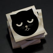 Image of Sleepy Watson the Cat | Wood Coasters