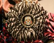 Image of Dia De Los Muertos Zebra Flower