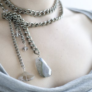 Image of eclipse lariat necklace