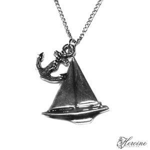 Image of Boat & Anchor Necklace