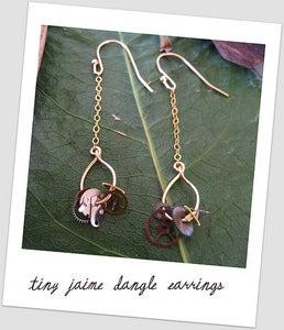tiny Jaime dangle earring