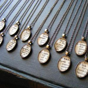 Image of Vintage Dictionary Word Necklace