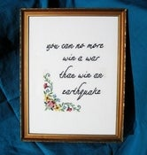 Image of  You Can No More Win a War E-Pattern from Radical Cross Stitch
