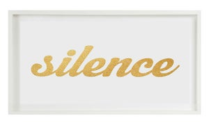 Image of 'Silence Is Golden' Screen Print with Diamond Dust