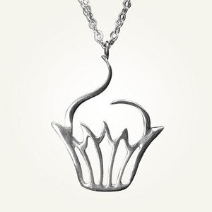 Image of Sweet Cupcake Necklace, Sterling Silver