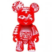 Image of 2.5&quot; Qee Paper Cut Bear - Red