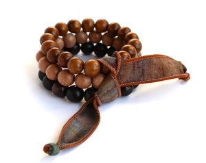 Image of Trio of Wood Bead Bracelets