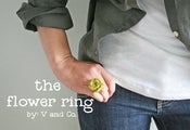 Image of fabric flower ring kit