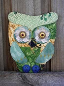 "Image of ""Time will Tell"" Lino Owl Clock"