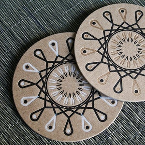Image of Coaster I : White Rangoli | 8pk