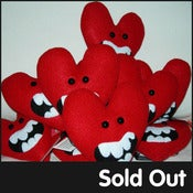Image of Felt monster hearts from FELT MISTRESS / JONATHAN EDWARDS