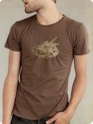 Image of Organic Men's Short Sleeve Tee-Machine in Bark