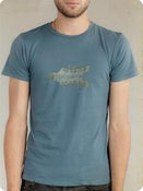 Image of Organic Men's Short Sleeve Tee-Headstock in Ocean