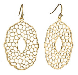 Image of Gold Dream Catcher Earrings
